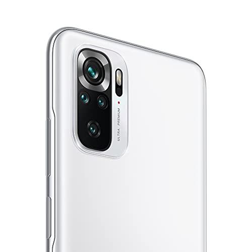 Redmi Note 10S Smartphone RAM 6 GB ROM 64 GB 6,43 '' AMOLED DotDisplay 64 MP Kamera 33 W Schnellladung MediaTek Helio G95 3,5 mm Kopfhörerbuchse 5000 mAh (typ) Akku weiß [Globale Version] - 2
