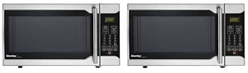 Danby Designer 0.7 Cu. Ft. 700W Countertop Microwave Oven in Stainless Steel (Pack of 2)