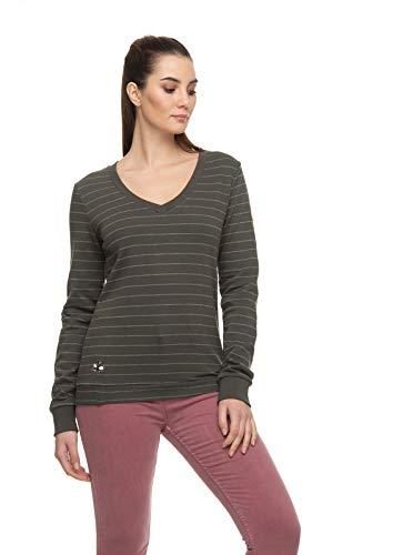Ragwear NELIN Organische Vrouwen Dames Sweatshirt, Trui, V-hals, Vegan