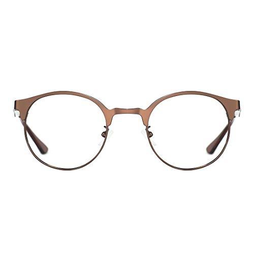 TIJN TIJN Neue Rund Metall Brillengestelle Herren Brille Ohne Stärke Metallgestell Brillenfassung Damen Herren