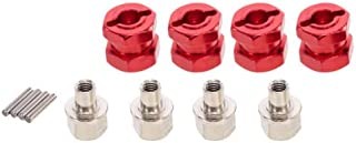 FidgetKute 12mm Hub Hex 12mm Hub Extension Combiner for 1/10 RC Crawlers Axial SCX10 Red