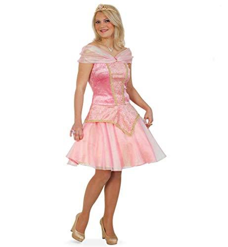 KarnevalsTeufel Damenkostüm Prinzessin, Königstocher, zauberhaft, Kleid in rosa - Gold, Karneval, Mottoparty (38)