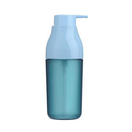 Distributeur de Savon 420 ML Bleu Vert Blanc Distributeur de Savon Shampooing Ménage Lotion Bouteille Gel Douche Distributeur de Savon (Color : Blue)