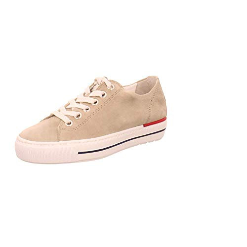 Paul Green 4704-49 Grey Nubuck Leather Womens Lace Up Casual Trainers 7