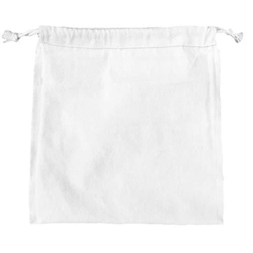 Hemoton 4 bolsas reutilizables de 34 x 53 cm, de algodón, lavables, con cordón, a prueba de polvo, bolsas de compras para harina, arroz, alimentos beige, beige (Beige) - JG8T16N1314B8Z4H1578NW2T