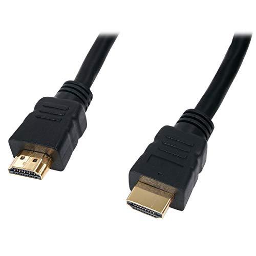 Cavo HDMI placcato oro – Qualità professionale 1,5 m Quad schermato isolato cavo con connettori in oro 24k per 1080p ad alta definizione HD Smart 3D Fire Apple Streaming Xbox PS4 Video
