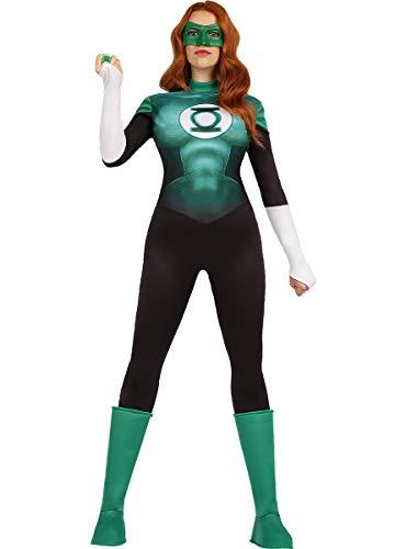 Funidelia | Disfraz de Linterna Verde Oficial para Mujer Talla XS ▶ Superhéroes, DC Comics, Justice League, Green Lantern - Color: Verde - Licencia: 100% Oficial
