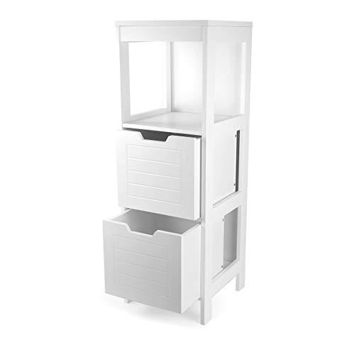 osoltus Komoda łazienkowa, szafka łazienkowa, regał łazienkowy, 89 cm, drewno białe