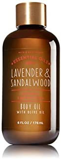 Bath and Body Works Lavender Sandalwood Body Oil with Natural Lavender Essential Oil 6 Ounce