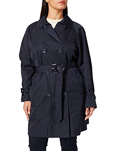 Geox Womens W AIRELL Trench-Polyester CA Trenchcoat, Gothic Blue, 42