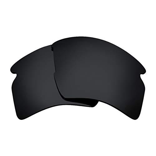 Seek Optics Replacement Lenses for Oakley FLAK 2.0 XL, Advanced Black Polarized