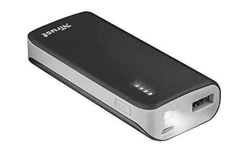 Trust Mobile Primo Powerbank, 4.400 mAh met 1 USB Poort (voor Tablet & Smartphone), Zwart