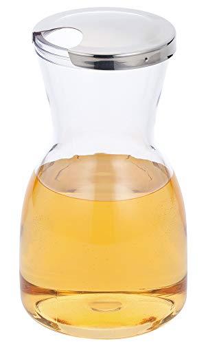三宝産業 デカンタ クリア シルバー 800cc ワイン&ジュースデキャンター メタルトップ 03311090
