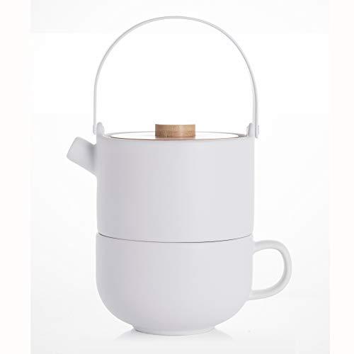 Bredemeijer 142007 Umea Tea-for-one, Stoneware, 500 milliliters