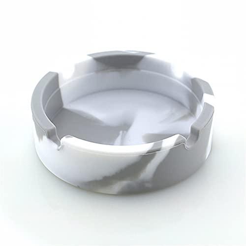Whyzb Cenicero Silicona Ashtray Premium Silicona Caucho Alta Temperatura Resistente al Calor Resistente al Calor Cenicero Durable (Color : F)