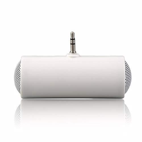 El más Nuevo Mini Altavoz estéreo Reproductor de MP3 Amplificador Altavoz para teléfono móvil 3.5 mm portátil Duradero Blanco - Blanco