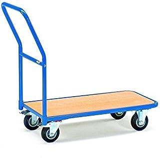 Fetra 1200 Magazijnwagen, laadvlak 850 x 450 mm, buitenafmetingen L x B x H 1100 x 450 x 910 mm, draagvermogen 200 kg, blauw