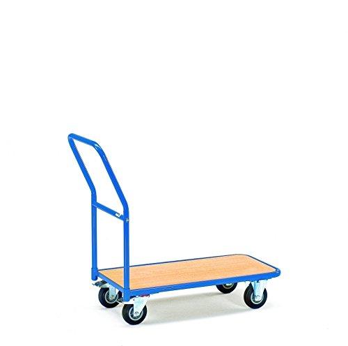 Fetra 1200 Magazinwagen, Ladefläche 850 x 450 mm, Außenmaße L x B x H 1100 x 450 x 910 mm, Traglast 200 kg, blau