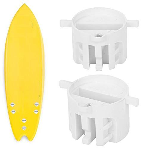 AMONIDA Tapón de Surf de Tornillo Tapón de Taza de Tabla de Surf Fácil de Usar Negro/Blanco Uso a Largo Plazo 6 Piezas Muebles Diarios para Agua de mar(White)