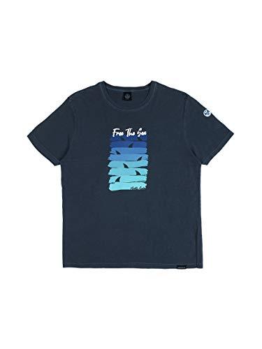 NORTH SAILS Free The Sea Uomo Maglietta in Jersey di Cotone con Maniche Corte e Scollo Rotondo - 3XL