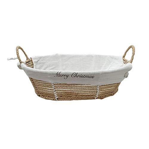 Cesto Vimini Paviera Fodera ovale Vuoto 36x27H10 Cm Ideale per confezionare regali strenne gastronomiche per Natale feste Vino Regalo alimenti Basket Wicker Empty Rectangular Lining packing gourmet