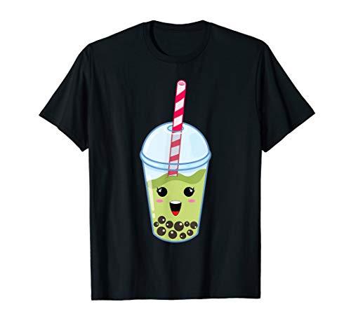 Kawaii Boba Milk Tea | Cute Matcha Bubble Tea Lover Gift T-Shirt
