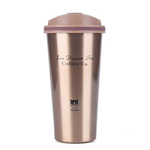 Hjjkyy Hk 500ML Koffie Beker met Deksel Thermos Mok Seal RVS vacuüm kolven Thermoses Thermo mok voor Auto Mijn Waterfles@zwart