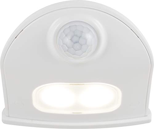 Energizer 38184 LED Motion-Activated, Battery Operated, 40 Lumens, Wireless, Indoor/Outdoor, Over-The-Door, Ideal for Entryway, Porch, Patio, Basement Security Light, 1 Pack, White