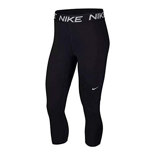 Nike Women's Victory Dri-fit Baselayer Essential Capri, Black/Black/(White), X-Small