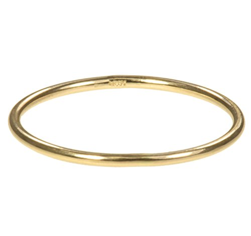 14K Gold Stacking Rings 1mm Round Size 7