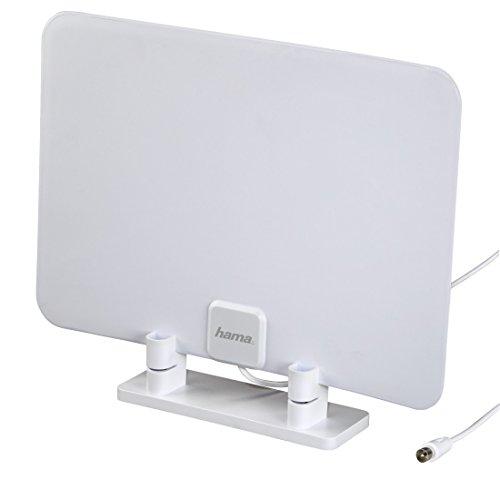 Hama Zimmer-/ Flach Antenne (in flachem Design, digital, passiv, geeignet für HD-TV/Radio DVB-T/DVB-T2)