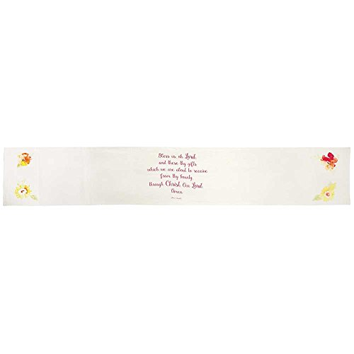 Dicksons Table Runner Bless Us Floral All Cotton 12 x 72 Decorative Table Runner