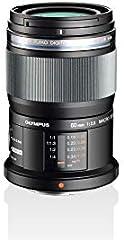 Objetivo Olympus M.Zuiko Digital ED 60 mm F2.8, zoom estándar, adecuado para todas las cámaras MFT (modelos Olympus OM-D & PEN, serie G de Panasonic), negro