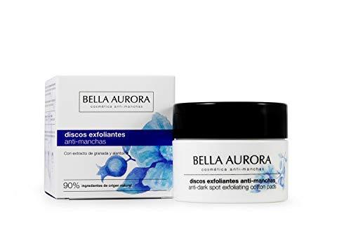 Bella Aurora Discos Faciales Exfoliantes Anti-Manchas | Elimina Impurezas | Estimula la Regeneración Celular | Aporta Luminosidad y Reduce Poros, Pack de 30 discos, 15 ml