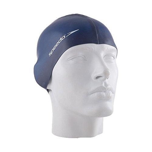 Speedo Palin Silicone - Gorro de natación para hombre, color azul marino