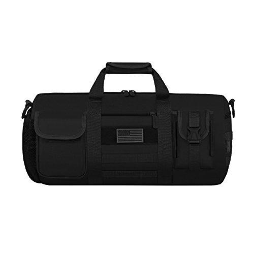 East West U.S.A RTD703M Tactical Digital Camo Heavy Duty Round Duffel Bag, Black