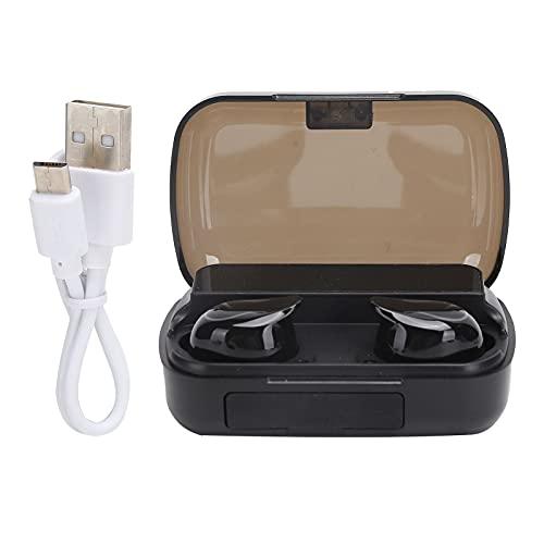 Annadue Auriculares inalámbricos Blutooth con Control táctil Digital Sterero Sound Auriculares magnéticos con Pantalla LED para computadora, Tableta, teléfono, Negro