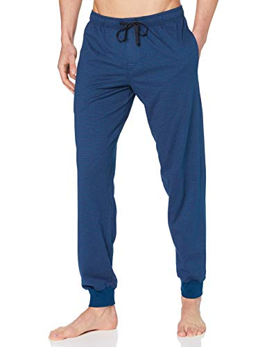 Schiesser Herren Mix & Relax Hose Lang Bündchen Schlafanzughose, Nachtblau-dunkel, 52