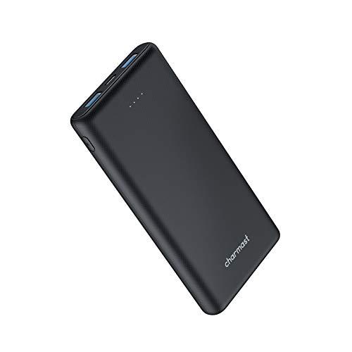 Charmast Batterie Externe 10000mAh Slim Power Bank USB C 5V/2,4A avec 3 Sorties et 2 Entrées Compatible avec Téléphone Veste Chauffante