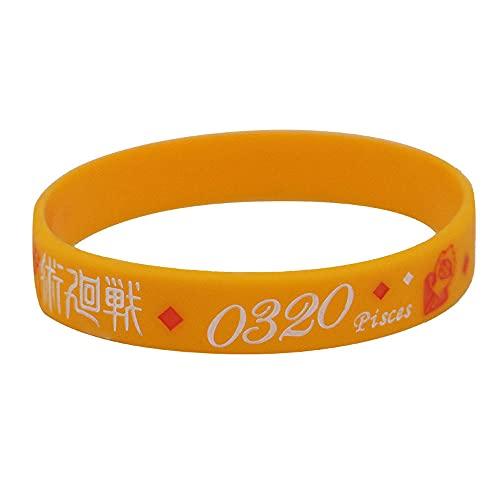 TTKAIDAN Pulsera Jujutsu Kaisen Pulsera de silicona de anime Pulsera de goma de gimnasio deportivo Pulsera de silicona de cosplay Pulsera de silicona Pulsera de silicona de anime para niños, niñas y f