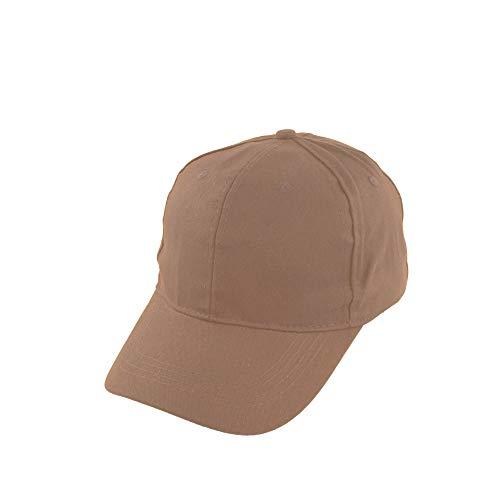 Gorra de Béisbol Ajustable de Algodón de Estilo Polo Clásico Deportivo Casual de Color Liso Suave y Transpirable Unisex (Beige JDH-3, Talla única)