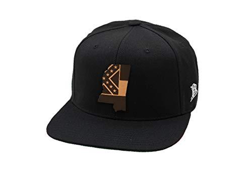 Branded Bills Mississippi 'The 20' Leather Patch Snapback Hat - OSFA/Black