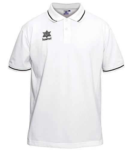 Luanvi Gama Polo, Hombre, Blanco, XL