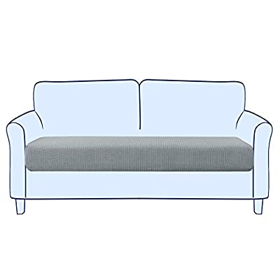 Subrtex Stretch Cushion Cover Couch Cushion Slipcover RV Seat Covers Chair Loveseat Sofa Cushion Protector Spandex Elastic Furniture Protector for Seat (Medium,Light Gray) from subrtex