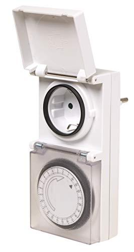 Uni-Elektra 21344 Tages-Zeitschaltuhr mechanisch, weiß, IP44
