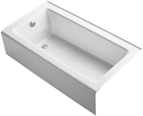 KOHLER K8750 Bellwether Bath with Integral Apron and Lefthand Drain White