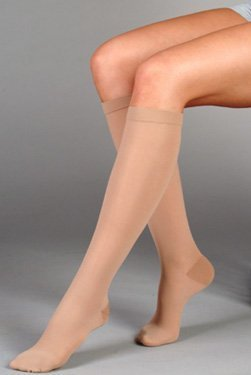 Juzo Basic Knee High 15-20mmHg Open Toe, III, beige by Juzo