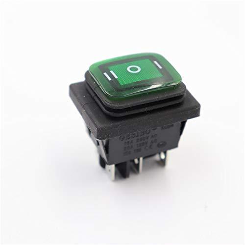 Dafengchui 5 PCS en el Interruptor a Prueba de Agua y a Prueba de Aceite Cuatro pies 2 Archivo Rojo Verde con Luces Interruptor de alimentación del rockero de Seis pies LED 12V 220V
