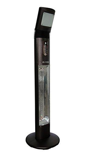 """OutTrade Heizung Elektrisch """"Apollo"""", verstelbares Licht, Schwarz, 50 x 50 x 190 cm"""