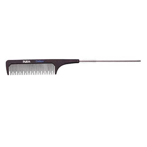 PARSA BEAUTY Profi-Toupierkamm Nadelstiel-Haarkamm zum toupieren, antistatisch aus Carbon 23 cm Karbon-Kamm für alle Haarlängen und -typen